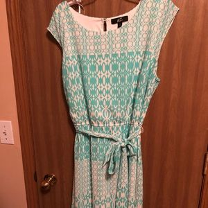 Beautiful teal and white lined dress